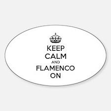 Keep calm and flamenco on Decal