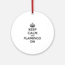 Keep calm and flamenco on Ornament (Round)