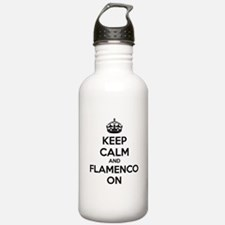 Keep calm and flamenco on Water Bottle