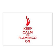 Keep calm and flamenco on Postcards (Package of 8)