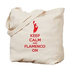Keep calm and flamenco on Tote Bag