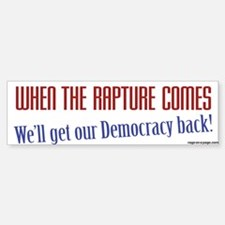 Get Our Democracy Back Bumper Bumper Sticker