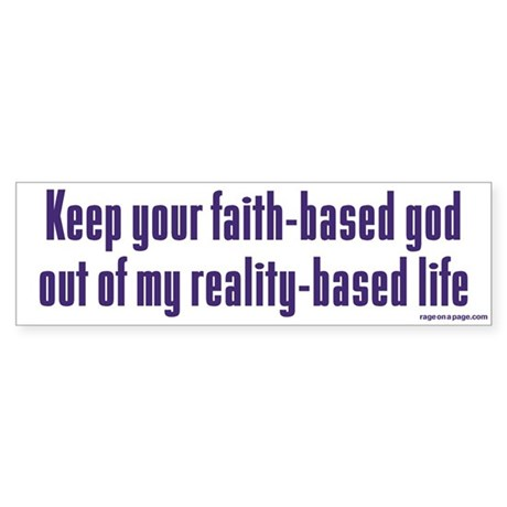 Keep Your Faith-Based God Sticker (Bumper 50 pk)