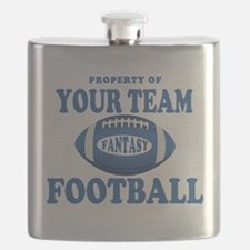 Property of Fantasy Your Team Blue Flask