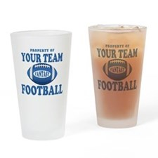 Property of Fantasy Your Team Blue Drinking Glass