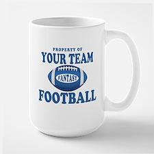 Property of Fantasy Your Team Blue Large Mug
