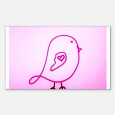 Little Pink Gentle Bird Decal