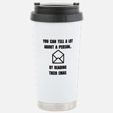 Read Their Email Stainless Steel Travel Mug