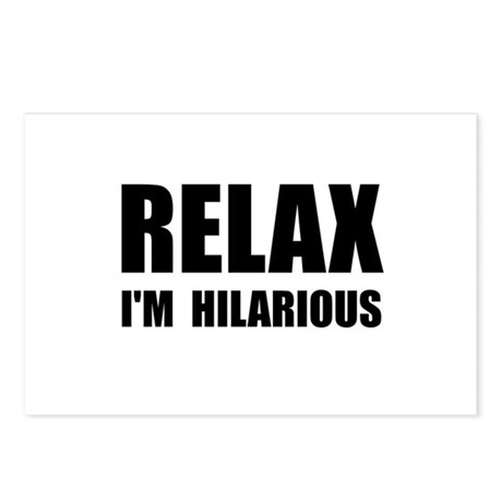 Relax Hilarious Postcards (Package of 8)