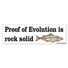 Proof of Evolution Car Sticker