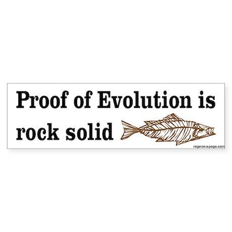 Proof of Evolution Sticker (Bumper)