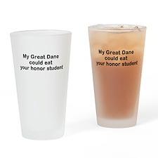 GreatDane eat Drinking Glass