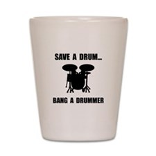 Save A Drum Shot Glass