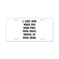 Voice Pause Aluminum License Plate