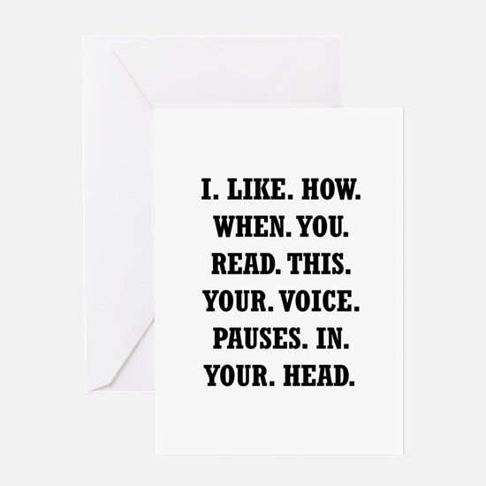 Voice Pause Greeting Card