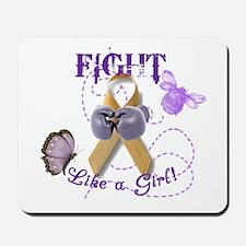 Fight Like A Girl (Butterfly/Bee) Mousepad