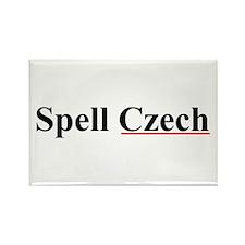 Spell Czech Rectangle Magnet