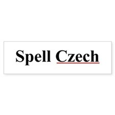 Spell Czech Bumper Stickers