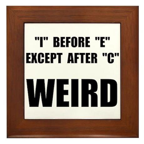 Weird Spelling Framed Tile
