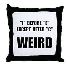 Weird Spelling Throw Pillow