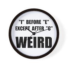 Weird Spelling Wall Clock