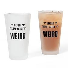 Weird Spelling Drinking Glass