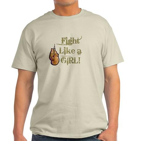 Fight Like a Girl (gloves) Light T-Shirt