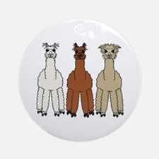 Alpaca (no text) Ornament (Round)