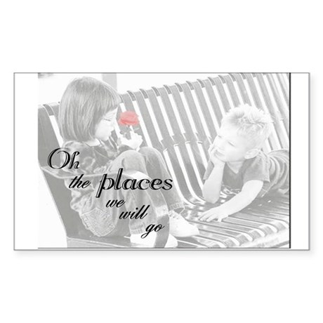Oh the places we will go Sticker (Rectangle)