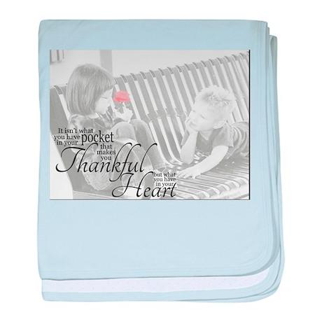 Thankful Heart baby blanket