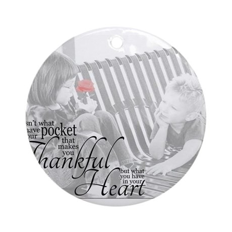 Thankful Heart Ornament (Round)