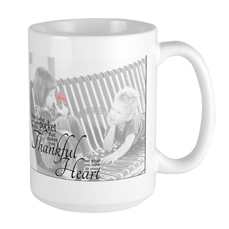 Thankful Heart Large Mug