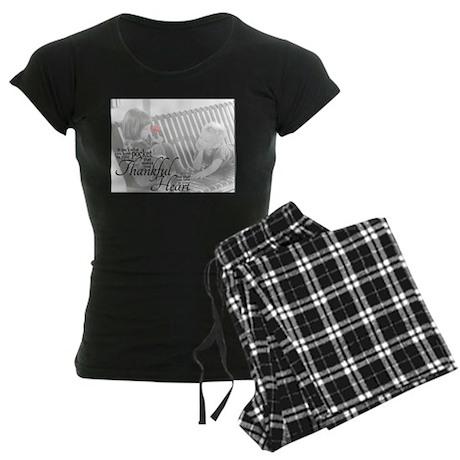 Thankful Heart Women's Dark Pajamas