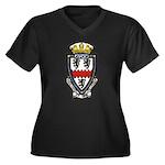 USS AYLWIN Women's Plus Size V-Neck Dark T-Shirt