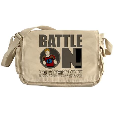 "Aaron Schulte ""Battle On"" Messenger Bag"
