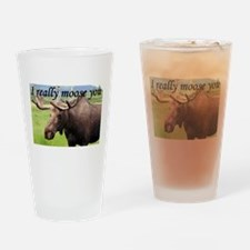 I really moose you Drinking Glass