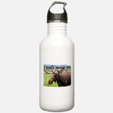I really moose you Water Bottle