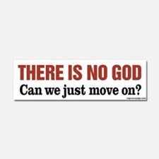 There is No God Car Magnet 10 x 3