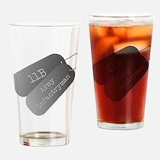11B infantryman Drinking Glass