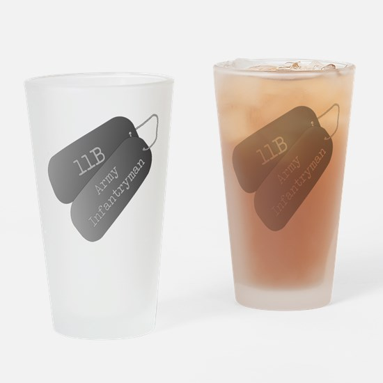 11B infantryman Drinking Glass