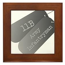 11B infantryman Framed Tile