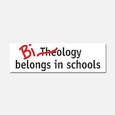 Biology Belongs in Schools Car Magnet 10 x 3
