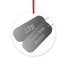 13B cannon Crew Member Ornament (Round)