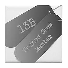 13B cannon Crew Member Tile Coaster