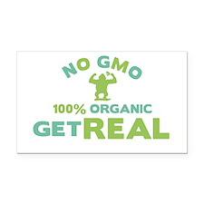 NO GMO Rectangle Car Magnet