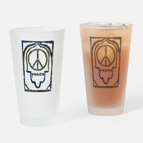 Hamsa Peace Drinking Glass
