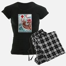 1963 Monaco International Red Cross Stamp pajamas