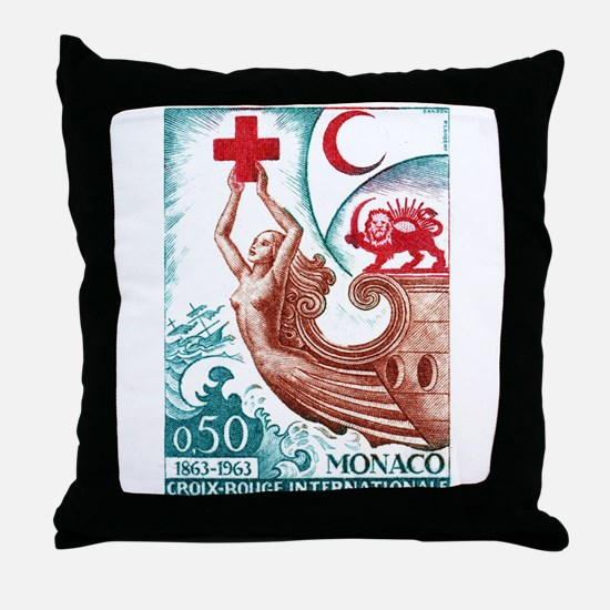 1963 Monaco International Red Cross Stamp Throw Pi