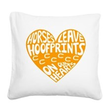 Hoofprints Square Canvas Pillow