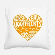 Hoofprints Square Canvas Pillow